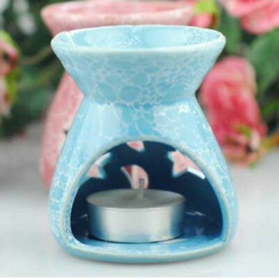 Incense Burner Backflow Cone Censer Tray Holder Catcher Candle Holder Blue
