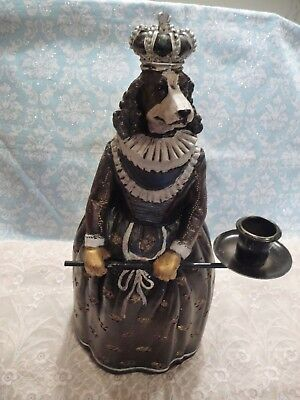 Wonderful Royal Spaniel Dog Statue Candle Holder New In Box