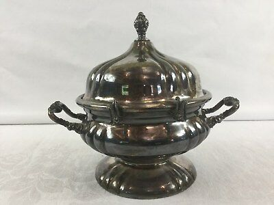Vintage Knickerbocker Silverplate Butter Dish Bowl #924 Silver Plated