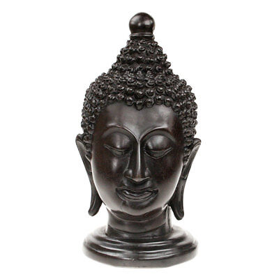 Buddha Head / Face /Bust Ornament Statue Figure Sculpture in Resin from Thailand