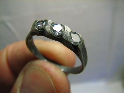 VERY NICE OLD  VINTAGE STERLING SILVER RING with STONE(S) #611