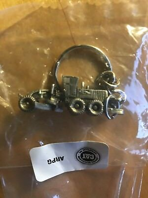 Caterpillar 140M Motor Grader Pewter Key chain Collectible