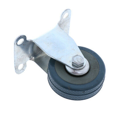 """2"""" Swivel Plate Casters Wheels for Chair Table Machine PVC Steel Zinc-plated"""