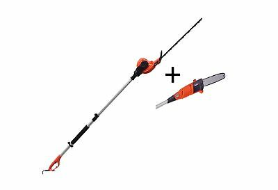 eSkde Electric Long Reach Telescopic Pole Chainsaw Pruner Hedge Trimmer Kit .
