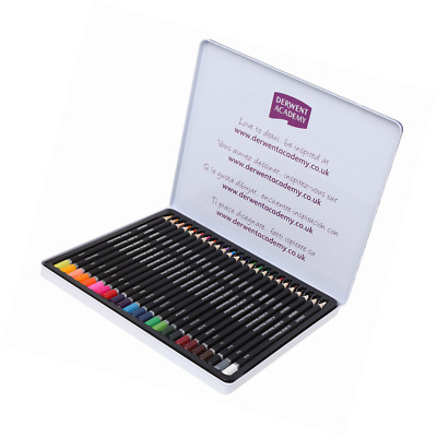Derwent Academy Watercolour Colouring Pencils, Set of 24, High Quality, 2301942