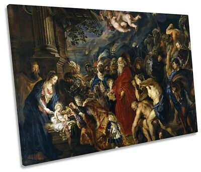 Peter Paul Rubens Adoration of the Magi Picture SINGLE CANVAS WALL ART Print