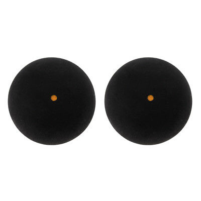 2 Pack Single Gelb Dot Trainning Squash Bälle für Sport Praxis Training