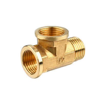 "1/2"" Brass -Female Female Male Tee Fitting Connecting Joint T-Junction 3 Way"