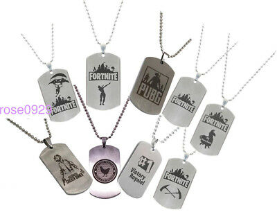 FORTNITE PUBG Battle Royale Stainless Steel Necklace Mens Jewellery UK SELLER