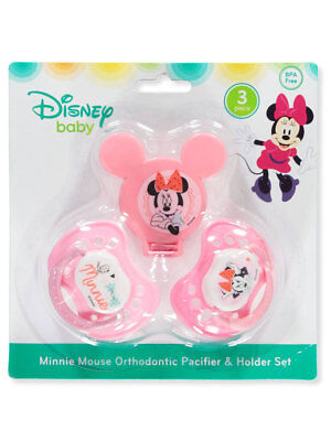 Disney Minnie Mouse 3-Piece Orthodontic Pacifier & Holder Set