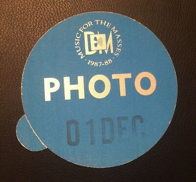 DEPECHE MODE Backstage Pass - Music For The Masses TOUR -  1987-88 Photo VIP
