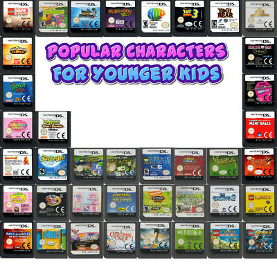 💚💛 DS DSi DSLite XL 2DS 3DS - POPULAR CHARACTERS For Younger Kids -  20/06/18