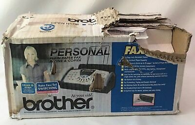 BROTHER FAX-575 Personal Plain Paper Fax, Phone & copier Damaged Box
