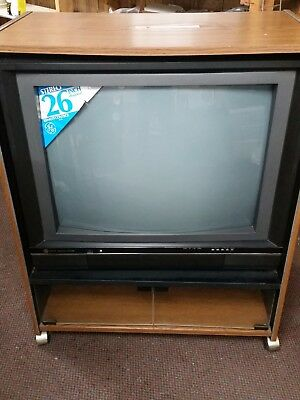 """Vintage General Electric GE 26"""" MTS Stereo Color Television TV 1987 BRAND NEW!!!"""
