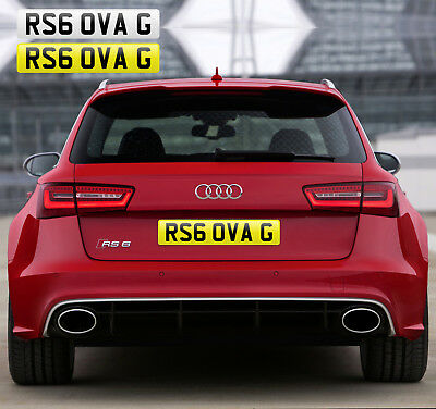 Rs6 Over G (Rs6 0Va G) Private Number Plate Audi Rs6 Avant C7 Fast Boss Toy Slow