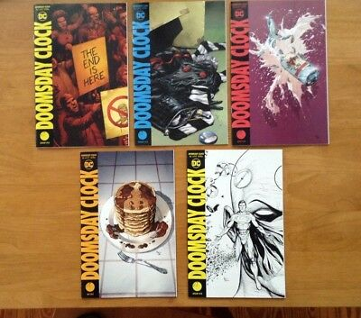 Doomsday Clock 1, 2, 3, 4, Main Covers A + 11:57  Gary Frank 1st Prints DC NM+