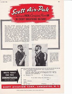 Scott Air-Pak For 1946    Ad                       6987