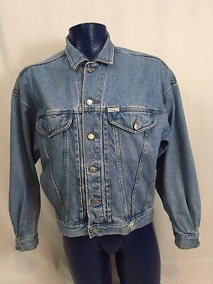 fc82c7cdef Vintage 80s 90s Guess Georges Marciano Denim Jean Trucker Jacket USA Mens M