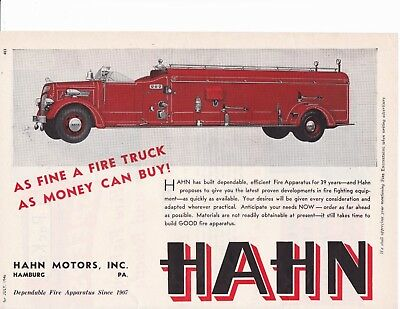 Hahn Builds A Quad Fire Engine    1946  Ad                       6992
