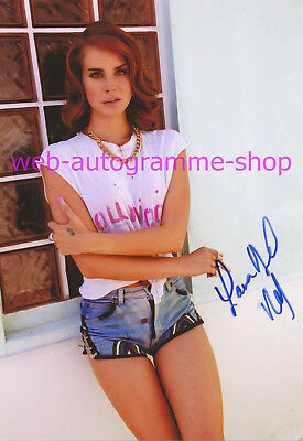 LANA DEL REY - SIGNED IN PERSON AUTOGRAMM AUTOGRAPH GF 20 x 29 CM - ECHO 2013