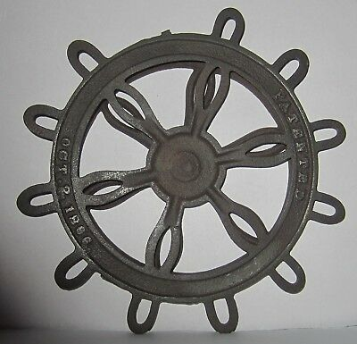 Patent 1886 Cast Iron Lazy Susan Trivet Combination... Primitive Kitchen