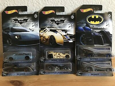 2018 Hot Wheels Batman Walmart Exclusive Batmobile Lamborghini Tumbler Arkham