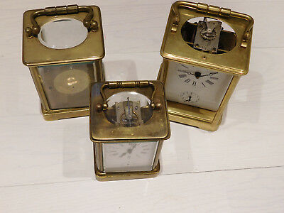Antique Carriage Alarm And Later Repeater Repeating Clock Parts.