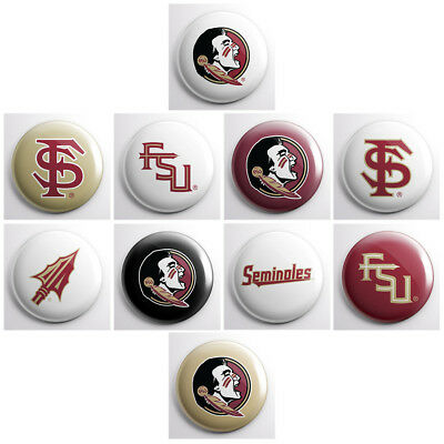 FSU FLORIDA STATE SEMINOLES – college athletic pinback buttons – sports team pin