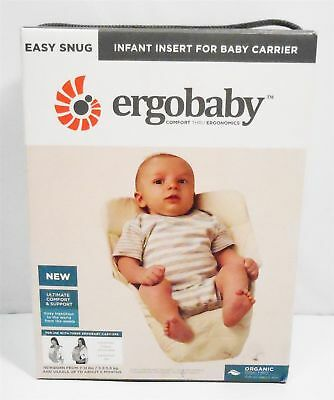 cbce287a60d Ergobaby Easy Snug Infant Insert For Baby Carrier - Natural 100% Organic  Cotton