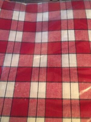 "Longaberger Picnic Plaid Tablecloth - Measures 116 X 52"" NIB"