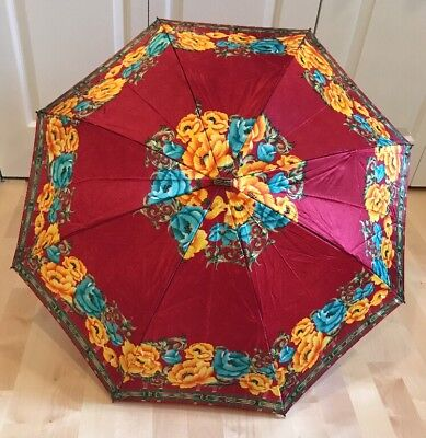 Hardy Amies London Travel Umbrella ~ UV ~ Windproof ~ Floral ~ Discontinued