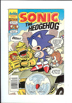 SONIC THE HEDGEHOG #17 1994 ARCHIE Gorilla Warfare or The Apes of Wrath GD/VG