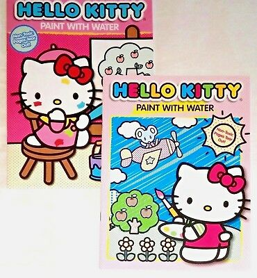 hello kitty paint with water coloring book for children sanrio