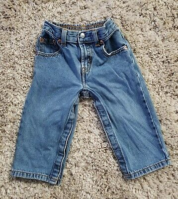 VINTAGE 90s LEVIS BOY'S TODDLER DENIM BLUE JEANS RED TAB PANTS 24 MONTHS