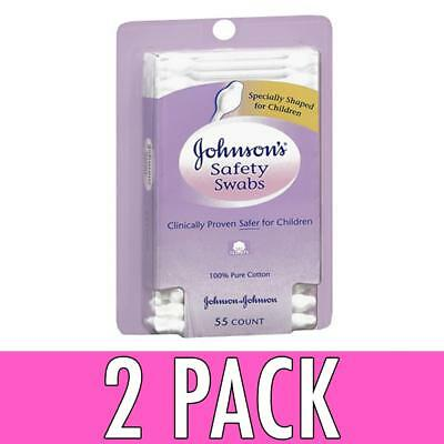 Johnson's Safety Swabs For Babies And Children, 55 ea, 2 Pack
