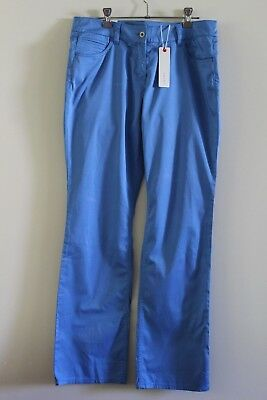 New With Tags Esprit Pants Long Size 10 Blue Medium Rise Straight Leg RRP $49.95
