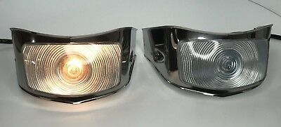 Pair (2) Parking Light Turn Signal Assembly For 1956 Ford F-100 Pickup Truck