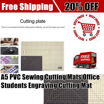 Double Color A5 PVC Sewing Cutting Mats Office Students Engraving Cutting Mat Q7