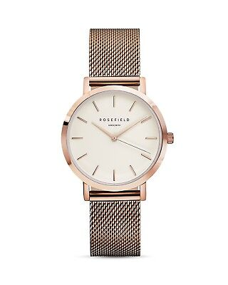 Rosefield Tribeca Watch 33mm ROSE GOLD WHITE FACE Model TWR-T50 NEW IN BOX
