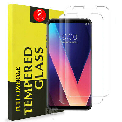 2X Full Cover Coverage Tempered Glass Screen Protector For LG G7 ThinQ V30+ Plus