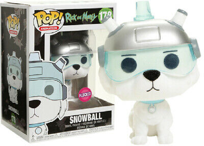 NEW! Funko Pop! Vinyl Rick and Morty Snowball Flocked US Exclusive