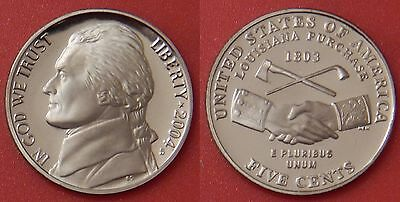 Proof 2004S US Handshake 5 Cents From Mint's Set