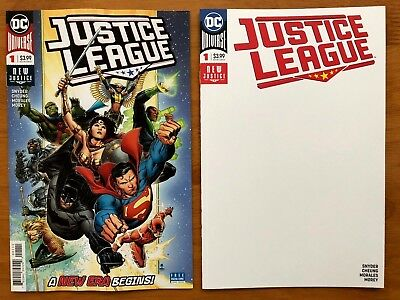 Justice League # 1 Cover A + Cover D Blank Variant 1st Print DC 2018 NM+