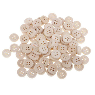 40pcs 12mm Round Natural Wood Buttons 4 Holes Sewing Buttons for DIY Crafts