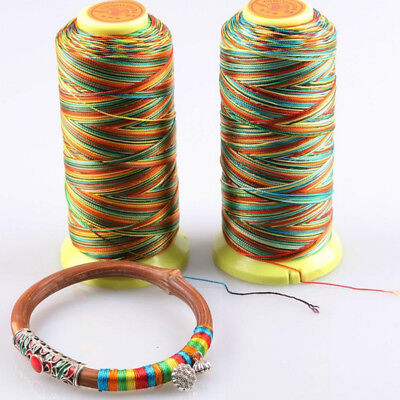 CRAFTS SEWING EMBROIDERY 25 OR 50 METRES SYNTHETIC THREAD 0.4MM * 10 COLOURS