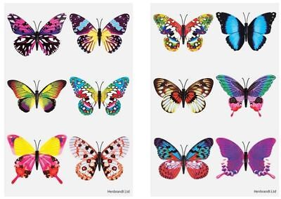 Butterfly Butterflies Temporary Tattoos Party Loot Bag Fillers Kids Boys Girls
