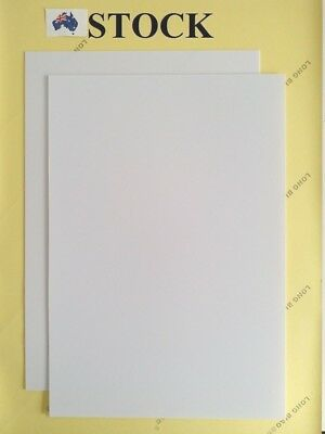 2 pcs. 200 x 280 mm White ABS Plastic Sheet, 1 mm thick, for DIY Model Craft