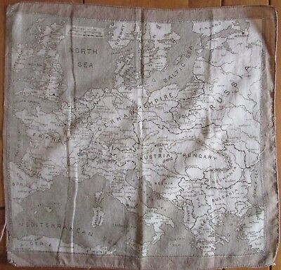 WWI European Map Handkerchief - British WW1 - Great War