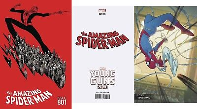 AMAZING SPIDERMAN 801 Main Cover A+ Dauterman Young Guns Variant NM+