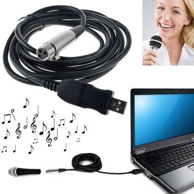 3M USB Male to XLR Female Microphone USB MIC Link Cable New P5O4